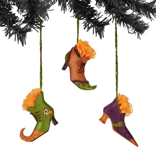 Department 56 Witch Shoe Ornaments Set of 3